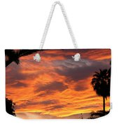 Sunset God's Fingers In Clouds  Weekender Tote Bag