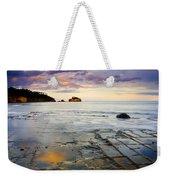 Sunset Grid Weekender Tote Bag