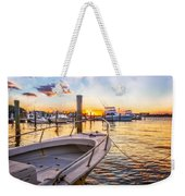 Sunset Harbor Weekender Tote Bag