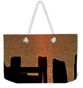 Sunset Hecla Island Manitoba Canada Weekender Tote Bag
