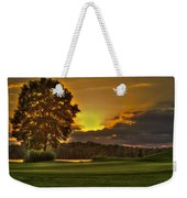 Sunset Hole In One The Landing Weekender Tote Bag