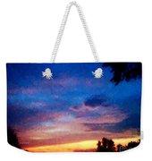Sunset In A Deep Blue Sky Line Weekender Tote Bag