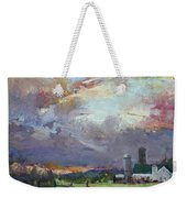 Sunset In A Troubled Weather Weekender Tote Bag