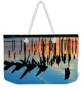 Sunset In Colonial Beach Virginia Weekender Tote Bag