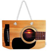 Sunset In Guitar Weekender Tote Bag