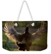 Sunset In His Wings Weekender Tote Bag