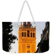 Sunset In Seville - A View Of The Giralda Weekender Tote Bag