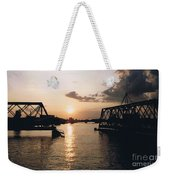 Sunset In Superior Wi Weekender Tote Bag