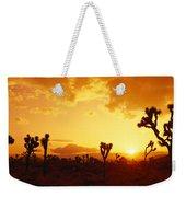 Sunset, Joshua Tree Park, California Weekender Tote Bag