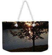 Sunset Lake Weekender Tote Bag