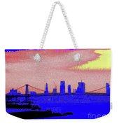 Sunset Lower Manhattan 2c7 Weekender Tote Bag