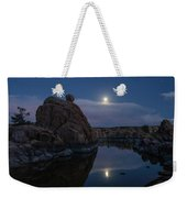 Sunset Moon Reflection Weekender Tote Bag