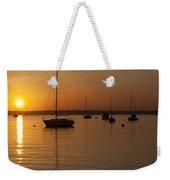 Sunset Newport Boats Weekender Tote Bag