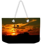 Sunset On A Windmill Jal New Mexico Weekender Tote Bag