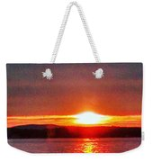 Sunset On A Yacht  Weekender Tote Bag