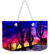 Sunset On Cactus Weekender Tote Bag