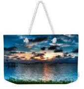 Sunset On Cedar Key Weekender Tote Bag
