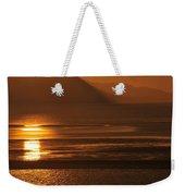 Sunset On Coast Of North Wales Weekender Tote Bag