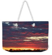 Sunset On Fire Weekender Tote Bag