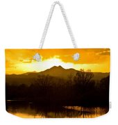 Sunset On Golden Ponds Weekender Tote Bag
