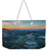 Sunset On Hills Weekender Tote Bag