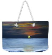 Sunset On Lake Michigan Weekender Tote Bag