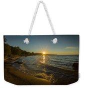 Sunset On Lake Superior Weekender Tote Bag