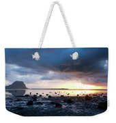 Sunset On Le Morne Weekender Tote Bag