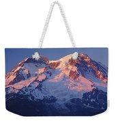 1m4876-sunset On Mt. Rainier  Weekender Tote Bag