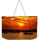 Sunset On Muskegon Lake Weekender Tote Bag