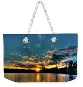 Sunset On Nicks Lake Weekender Tote Bag
