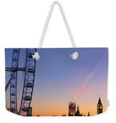 Sunset On River Thames Weekender Tote Bag by Jasna Buncic