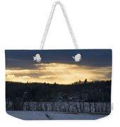 Sunset On Sabattus Lake Weekender Tote Bag