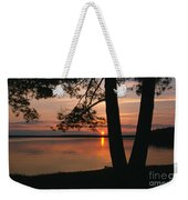Sunset On Sister Bay Weekender Tote Bag