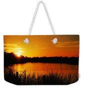 Sunset On The Alafia Weekender Tote Bag