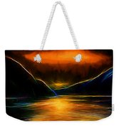 Sunset On The Bay Weekender Tote Bag