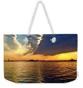 Sunset On The Hudson 03 New York Weekender Tote Bag