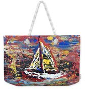 Sunset On The Lake Weekender Tote Bag by J R Seymour
