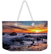 Sunset On The Rocks Weekender Tote Bag by Jason Roberts