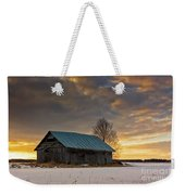 Sunset On The Snowy Fields Weekender Tote Bag