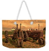 Sunset On The Tractors Weekender Tote Bag