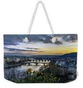 Sunset On The Vltava Weekender Tote Bag