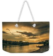Sunset On The Willamette River Weekender Tote Bag