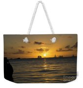 Sunset On Two Masts  Weekender Tote Bag