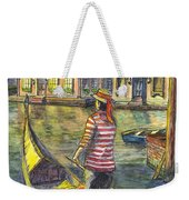 Sunset On Venice - The Gondolier Weekender Tote Bag