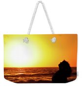 Sunset On Wall Beach Weekender Tote Bag