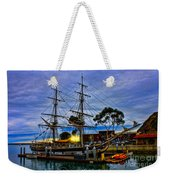 Sunset Over A Tall Ship Weekender Tote Bag