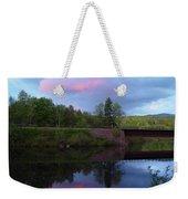 Sunset Over Amoonoosuc River Weekender Tote Bag