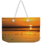 Sunset Over Arcata Marsh, With Avocets Weekender Tote Bag