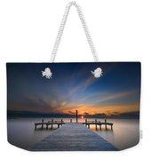 Sunset Over Barnegat Bay Weekender Tote Bag